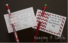 Keeping it Simple: Pencil valentine idea with free printable