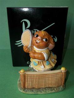 PENDELFIN Rabbit Girl Figurine with Tennis Racket ANNETTE New in Box