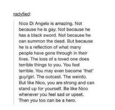 Honestly this is all of the things that make Nico my favorite, all wrapped into one post.