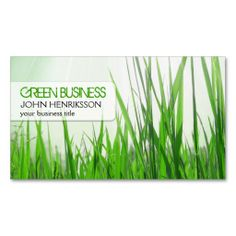 Eco-Friendly Lawn Care Business Card. This great business card design is available for customization. All text style, colors, sizes can be modified to fit your needs. Just click the image to learn more!