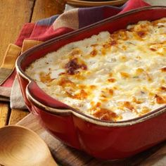 Comforting Potato Casserole Recipe -After enjoying this creamy, snazzed-up potato casserole at a wedding dinner, my daughters and I asked the caterer to share the recipe. Because it can be made ahead, it's a great recipe for busy cooks. —Darlis Wilfer, West Bend, Wisconsin