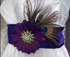Peacock n Amethyst Vintage Beauty Bridal by CRBoggsDesigns on Etsy, $155.00