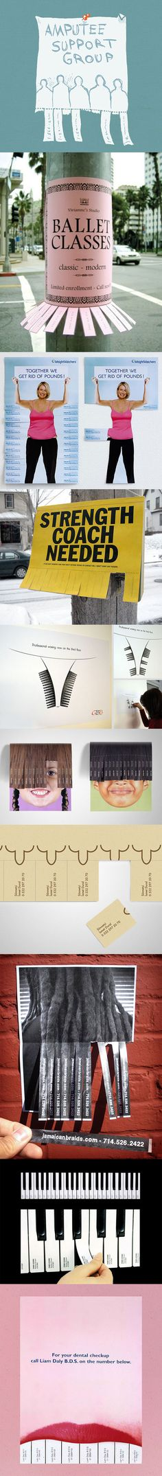 Clever and Creative Tear-Off Ads