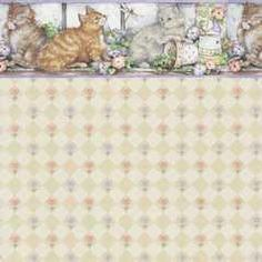 Wallpaper-Purfect Kittens/6 Pc | Marys Dollhouse Miniatures