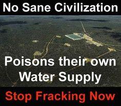 fracking:  poisoning the well—doing Putins job for him!
