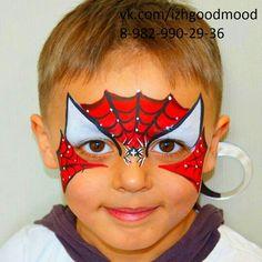 Аквагрим,  фейсарт,  faceart,  Spider-Man,  спайдермен