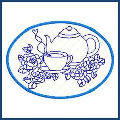 Tea Time Placemat (In the hoop)