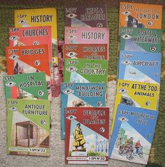 Sixpenny I-spy books I Spy Books, Old Children's Books, My Books, My Childhood Memories, Great Memories, Vintage Games, Vintage Books, Book Cover Art, Book Art