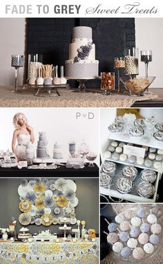 Wedding Cake, Cake Design, Dessert Bar, Sweet Table, Styling Inspiration,Tipples and Treats, canapes,  cocktails, Food and Drink, Ideas, Nibbles, Recipes,  Wedding Inspiration (1) Sister Wedding, Our Wedding, Dream Wedding, Buffet Wedding, Wedding Dress, Dessert Buffet, Dessert Tables, Candy Buffet, Gray Wedding Colors