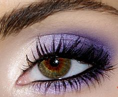 Bright purple pigment is perfect for accentuating hazel eyes! Go out with the girls in style.