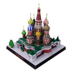 Saint Basil's Cathedral, Russia,Architecture,Paper Craft,Europe,Russia,brown,cross,Moscow,world heritage,building,cathedral