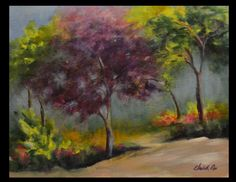 Spring Spectacular 11 x 14 Original Acrylic Painting by Elizabeth Lee of Richmond, VA