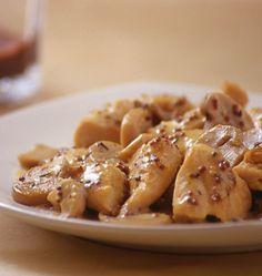 Poulet à la moutarde et aux champignons, sauce légère au yaourt - Recettes de…