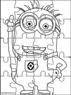 Puzzles Rompecabezas para imprimir para niños Minions 4