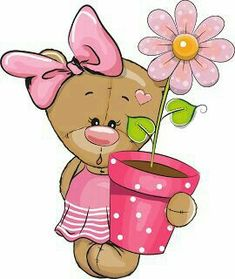 Tatty Teddy, Teddy Bear, Girl Cartoon, Cartoon Art, Cute Cartoon, Cute Images, Cute Pictures, Baby Posters, Baby Painting