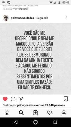 Portuguese Quotes, Clash Of Clans, Some Words, Captions, Like Me, Letting Go, Texts, Sad, Let It Be
