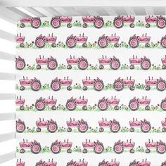 Farm Nursery, Nursery Ideas, Pink Tractor, Vintage Tractors, Crib Sheets, Changing Pad, Cribs, Etsy Shop, Baby Ideas