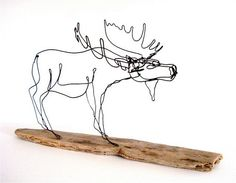 Moose Wire Sculpture by WiredbyBud on Etsy, $70.00