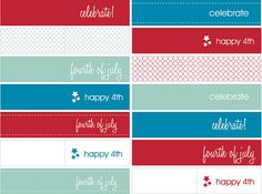 4th of July Freebie Drink + Cupcake Flags by blush printables, via Flickr