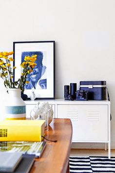 my scandinavian home: A cheerful small Swedish apartment Armoire Ikea Ps, Ikea Ps Cabinet, Decoration Inspiration, Interior Inspiration, Design Inspiration, Home Living Room, Living Spaces, Living Room Scandinavian, Interior Architecture