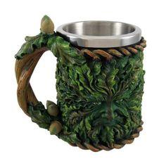 Cool Celtic Green Man Tankard Mug Stein Pagan