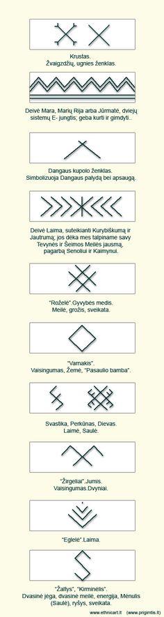 zenklai. Lithuanian traditional sacred symbols. #Pagan #Baltic