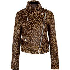 Isabel Marant Eston cheetah-print calf hair jacket (144.490 RUB) ❤ liked on Polyvore featuring outerwear, jackets, isabel marant jacket, asymmetrical zipper jacket, zipper jacket, cheetah jacket and zip jacket