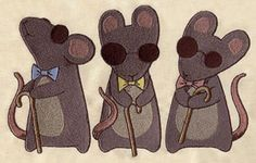 Nursery Rhymes - Three Blind Mice   Urban Threads: Unique and Awesome Embroidery Designs