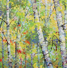 """Spring Birches VI"" by Frank Balaam available at a Scottsdale art Gallery, The Marshall 