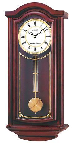Seiko Wall Pendulum Clock Mahogany Finish Solid Wood Case - Wood Clock - Ideas of Wood Clock - Seiko Wall Pendulum Clock Mahogany Finish Solid Wood Case Price : Wood Clocks, Antique Clocks, Preston, Chiming Wall Clocks, Traditional Wall Clocks, Glass Theme, Pendulum Wall Clock, Clock Art, Grandfather Clock