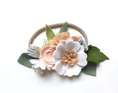 Dreamer flower crown  whimsical/ felt flower headband/ floral