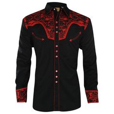 This is one SEXY shirt - Scully Men's Retro Gunfighter Western Shirt Western Outfits, Western Shirts, Blazer Fashion, Mens Fashion, Fashion Outfits, African Shirts, African Tops, African Style, Cool Shirts
