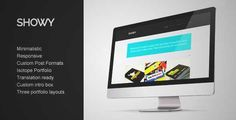 Download and review of Showy - Bold & Flat Portfolio, one of the best Themeforest Creatives themes