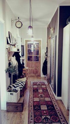 Hallway, rustic, wood door