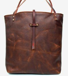 Leather Market Tote Bag by In Blue Handmade