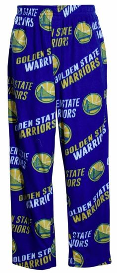 Golden State Warriors NBA Mens Micro Fleece Scatter Pattern Pajama Pants XL 40-42 -- Awesome products selected by Anna Churchill