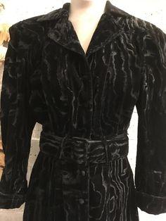 9464c0a11 1980s velvet dress, 1940s style dress, Karen Alexander, Vintage fishtail  dress, gothic