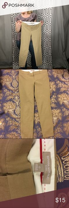 Banana Republic Sloan Straight Leg Banana Republic Sloan fit sits just below the waist and lands around the ankle (28 inch inseam) This pair seems to be begging for a striped long sleeve tee, some sperrys, and a messy bun. Work pants by nature but feel free to wear out. Banana Republic Pants Skinny