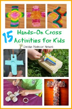15 Hands-On Cross Activities for Kids - Christian Montessori Network Bible School Crafts, Bible Crafts For Kids, Easter Crafts For Adults, Vbs Crafts, Sunday School Crafts, Crafts For Kids To Make, Easter Ideas, Preschool Art Activities, Easter Activities