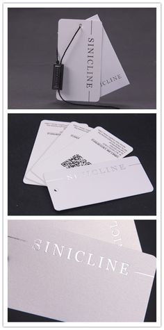 Simple white hang tags for clothing.   #clothingtag #hangtags #sinicline