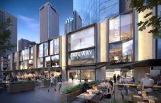 Gateway Creates Fresh New Frontage for Circular Quay Mall Facade, Retail Facade, Shop Facade, Building Facade, Building Exterior, Shopping Mall Architecture, Retail Architecture, Commercial Architecture, Architecture Design