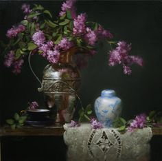 Lilacs and Silver has been accepted into the 2009 Western Oil Painters of America Exhibition, Elizabeth Robbins