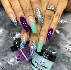 Want some ideas for wedding nail polish designs? This article is a collection of our favorite nail polish designs for your special day. Glam Nails, Fancy Nails, Bling Nails, Beauty Nails, Bling Nail Art, Beauty Makeup, Nail Swag, Best Acrylic Nails, Acrylic Nail Designs