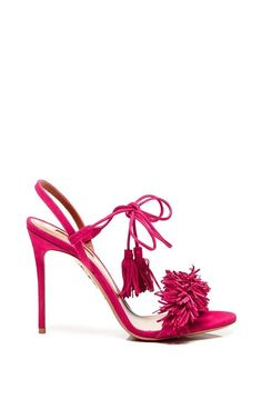 Wild Thing Suede Sandals In Pink by AQUAZZURA how Perfecto. Brava Make the Pedi appointment Pronto, LLoyd