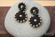 macrame earrings by yasmin