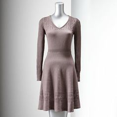 Simply Vera Vera Wang Fit and Flare Sweaterdress