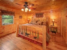 Welcome to the Bear Hunter cabin in Pigeon Forge, Tennessee. This large, semi-private, premier, four bedroom cabin rental has an absolutely amazing view of Mt. LeConte, and is loaded with all the finest amenities. Upon entering Bear Hunter, you will find beautiful Hickory hardwood flooring, two master suites with large jacuzzi tubs, new fully equipped kitchen with quartz counter-tops, three levels allowing guests plenty of room to spread out and much, much more.
