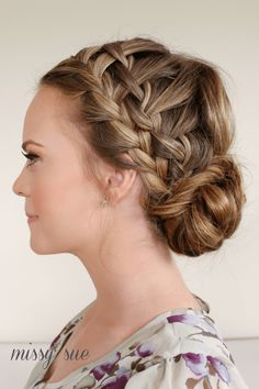 Double Waterfall Braids and Fishtail Bun. Love it