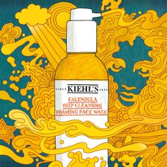 Calendula Deep Cleansing Foaming Face Wash, the newest addition to our shelves - Art by Billie Jean