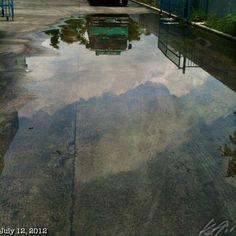 反射 #reflection #sky #cloud #philippines #フィリピン #空 #雲
